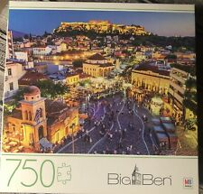 Athens Greece Big Ben 750-Piece Puzzle By Milton Bradley