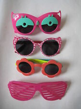 4 Pair SUNGLASSES LOT Gymboree flower cat eye pink shutter shades girl glasses