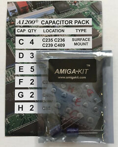 Professional Capacitor Pack for Amiga 1200 A1200 Recapping New Amiga Kit 1137