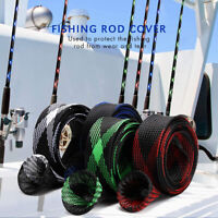 5Pcs 67'' Fishing Spinning Rod Sock Covers Braided Mesh Rod Protector Sleeve US