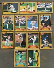 Lot Of 13. 2002 Topps Baseball Braves Dodgers Cardinals Red Sox Blue Jays Reds