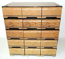 5 lot Vintage CASSETTE TAPE 3 Drawer STORAGE CASES Holds 42 (210 Total) Kenmark
