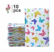 10 Pack Butterfly Fancy Poly Bubble Mailers Self Sealing Durable Waterproof FS!