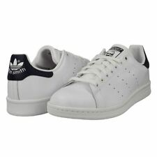 Adidas Mens Stan Smith Leather Trainers Sneakers Casual Shoes White With Navy