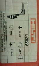 Hilti ASTA FILETTATA STAFFE STAFFA. m10 Rod, si adatta 8 a 14mm. confezione da 19. #52829