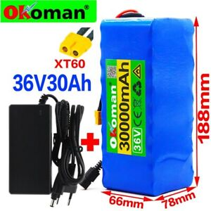 36V ebike battery pack 30Ah 500W For Electric bicycle Scooter with BMS+charger