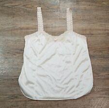Greenco Maid Vintage Tank Top Shirt Slip ~ Sz M ~ Beige ~ Lace Trim ~ USA Made