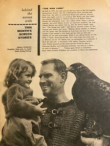 The War Lord, Charlton Heston, Two Page Vintage Clipping