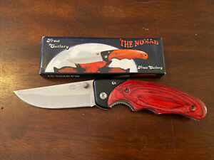 """The Nomad, Frost cutlery 15-582RPW, Aluminum Handle With Pakkawood, 4 1/2"""" Liner"""