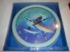 "Guy Harvey 15"" Wall Clock, NEW, Marlin,  Distressed Tin frame"