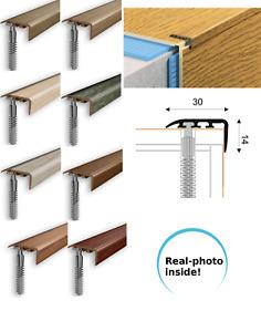 UPVC Stair Nosing Edge Trim Step Nose Floor Edging   Laminate Floor-1m 30x14