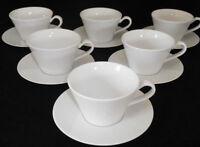 Rosenthal Culture Weiß 6 Tee-/ Cappuccino Tassen mit Untertassen Neuware