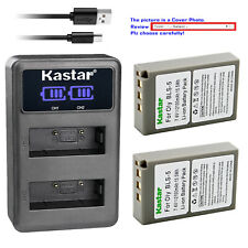 Kastar Battery LCD Dual Charger for Olympus BLS-5 & Olympus E-PL5 EPL5 Camera