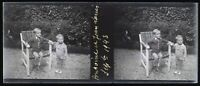 Francia Bambini 1943 Foto Stereo Negativo Placca Da Lente VR11n