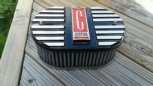 Ford cortina mk2  alloy k&n air filter top, black and red,brand new