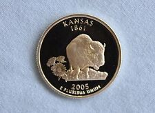 2005-S Kansas Silver Proof State Quarter Ultra Deep Cameo