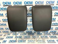 17 18 NISSAN ARMADA rear 3rd row seat headrest head rest set leather black OEM