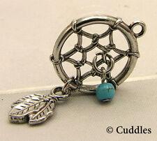 Dream Catcher Ganz Metal Silver Harmony Good Luck Earth Charm Bracelet Necklace