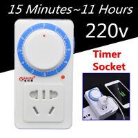 AC 220V 10A 11 Hour Countdown Timer Switch Control Socket Aquarium Pump  gu