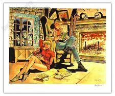 Affiche Meynet Hommage à Ric Hochet signé 29x34,9