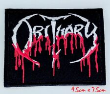Obituary Blood Drip Logo Death Embroidered Iron On Patch #1100