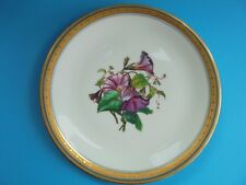 ANTIQUE LIMOGES BOTANICAL HAND PAINTED CABINET PLATE MORNING GLORY c1880