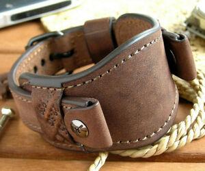 Genuine Leather Calfskin Watch Strap Band Bund 16 - 22mm Men Watch Cuff Bracelet