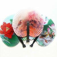 Paper Hand Fan Folding Wedding Party Favor Decoration Colorful SALE 5Pcs B9O6