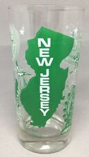 NEW JERSEY Souvenir Drinking Glass The Garden State Green and White attractions