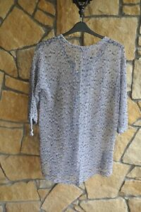 Light Grey Knitted Cardigan with Wooden Buttons by JENNY'S in Size 16 to 18