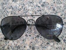 Polaroid black frame polarized aviator sunglasses. 04213Z.