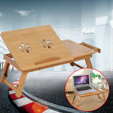 Laptoptisch Bambus Klapptisch Laptop Ständer Betttisch + Lüfter + Schublade XIXI