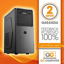 PC DESKTOP INTEL QUAD CORE RAM 16GB HD 2TB DVD/WIFI/COMPLETO ASSEMBLATO FISSO