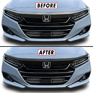 Chrome Delete Blackout Overlay for 2021-22 Honda Accord Front Upper Grill Trim