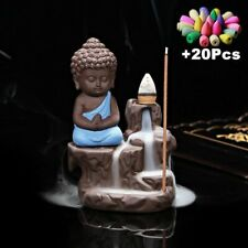 Small Buddha Backflow Incense Burner Censer Creative Decor Home Office Gifts