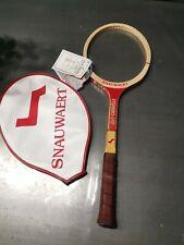 Raquette De Tennis Neuve Vintage En Bois Snauwaert Lady Caravelle