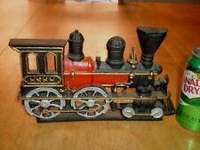U.S. Old West Railroad Train Steam Engine, Iron Metal,Door Stop /Bookend Statue