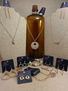 🔥 Paparazzi Jewelry Lot 12 Necklace Earrings Bracelet Ring NEW Gold Heartbeat