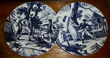 "Colonial Williamsburg Blue 8"" Plate Andrea Sadek Country Courtship CHOOSE PO14"