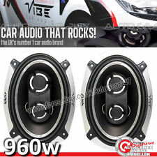 960W Vibe Slick 693 6x9 3 Way 480w Slick 69 69.3 Van Car Shelf Speakers Pair Set