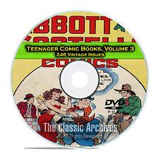 Teenager Comic Books, Vol 3, Abbott and Costello, Joe Palooka Golden Age DVD D56