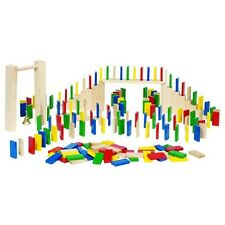 Wooden Blocks Kids Domino Race Childrens Building Blocks