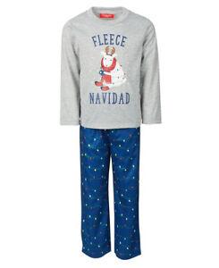 New Family PJ's Matching Kids Navidad Family Pajama Set, Holiday Light, L(10/12)