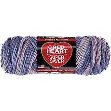 Red Heart Super Saver Yarn, Mulberry Mix, 5 Oz Skein, E300, 100% Acrylic,Worsted