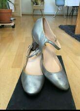 REPETTO Baby Strap wedding shoes antic silver gitan Salomé en taille 39 100% Leathe