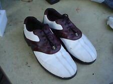 Footjoy Super Lites Men's Size 10 1/2 M Brown/White Oxford Soft Spike Golf Shoes