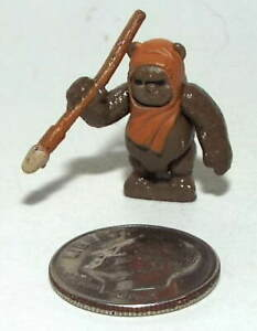 Very Small Micro Machine Plastic Star Wars Figure of an E-Wok with a Spear