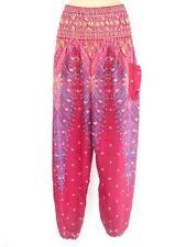 Thai Harem Feather Boho Long Gypsy Hippie Trousers Aladdin Yoga Casual Pants