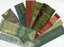 Antique Book Spine Bookmarks Set of 11 Hand made in Australia