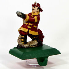 "Midwest of Cannon Falls FIREMAN 5"" Stocking Hanger Cast Iron Fighter Hydrant"